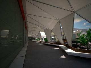 BTA DISEÑO Y CONSTRUCCION Moderne winkelruimten Metaal Wit