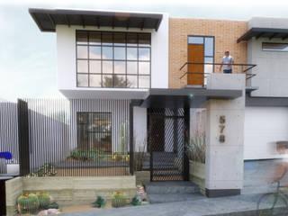 Perspectiva exterior: Casas unifamiliares de estilo  por Aformal