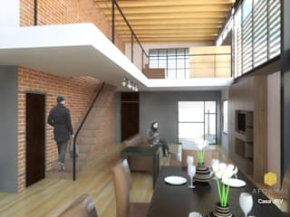 Perspectiva interior: Salas de estilo moderno por Aformal