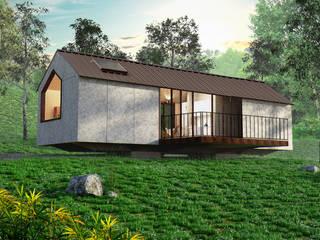 Prototipo Extend _ Viviendas Refugio 27-47-67: Casas de estilo  por @tresarquitectos