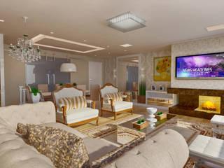 : Salas de estar  por Giovana Lumertz Design de Interiores,Clássico