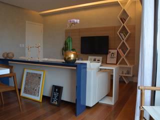Reforma apartamento J|L: Salas de estar  por arquitetura.ac,Moderno