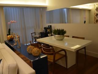 Reforma apartamento J|L: Salas de jantar  por arquitetura.ac,Moderno