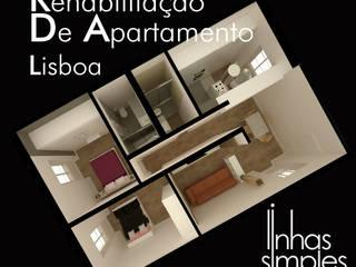 Linhas Simples Paredes y pisos de estilo moderno