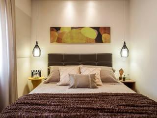 Apartamento Santo André Amanda Pinheiro Design de interiores Quartos modernos Ambar/dourado