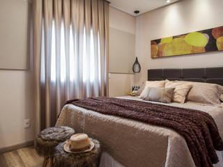Apartamento Santo André Amanda Pinheiro Design de interiores Quartos modernos Bege