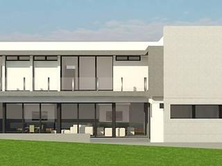 Vista lateral.: Casas de estilo moderno por ARQUIGRAF YB