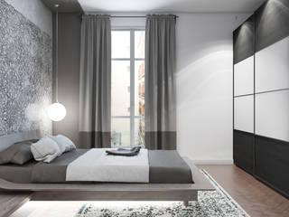 Appartement Etienne Marcel: Chambre de style  par  ElenKova architecture
