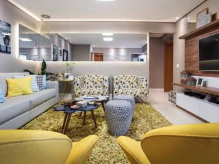 Sala de estar: Salas de estar  por Amanda Pinheiro Design de interiores,Moderno