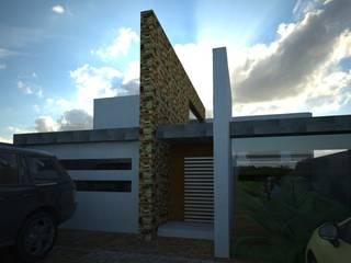 FACHADA PRINCIPAL:  de estilo  por BTA DISEÑO Y CONSTRUCCION
