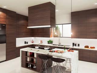 Diseño Interior y Área Social : Cocinas de estilo  por HZH Arquitectura & Diseño
