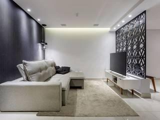 Apartamento PN Salas de estar minimalistas por Caio Prates Arquitetura e Design Minimalista