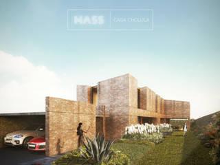 Casa Cholula 1: Casas de estilo rústico por MASS Architectural Studio