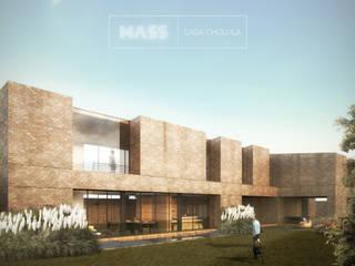 Casa Cholula 3: Casas de estilo rústico por MASS Architectural Studio
