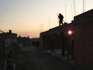 Construcción Casa Cholula 2: Casas de estilo rústico por MASS Architectural Studio