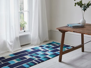 Cultivate Geometric Vertical Stripe Contemporary Rug:   by Interiors by Element