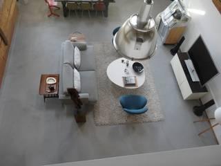 Boden in Betonoptik BETON2 Moderne Wohnzimmer Beton Grau
