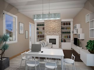 Appartamento P: Soggiorno in stile in stile Moderno di Michele Vangelista Architetto