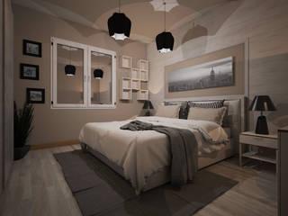 Appartamento P: Camera da letto in stile in stile Moderno di Michele Vangelista Architetto