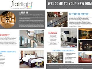 Product Brochures de Flairlight Designs Ltd Moderno