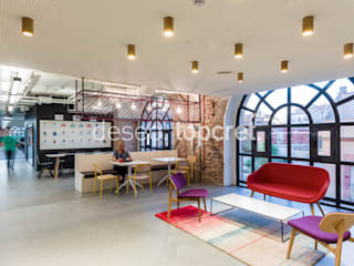 Industrial style study/office by Topcret Industrial