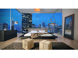 Decordesign Interiores BedroomBeds & headboards Wood Black
