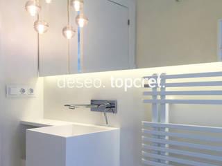 Topcret 現代浴室設計點子、靈感&圖片 White