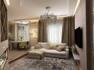 комплекс Лосиный остров Москва Гостиная в стиле модерн от De Style Модерн