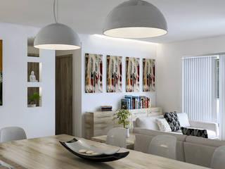 apartment in the park, Milan: Soggiorno in stile in stile Moderno di AVarch