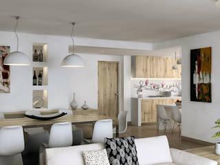 apartment in the park, Milan: Cucina in stile in stile Moderno di AVarch