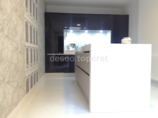 Topcret 現代廚房設計點子、靈感&圖片 White