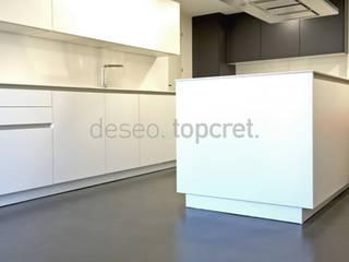 Topcret 現代廚房設計點子、靈感&圖片 Grey