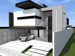 Casa H&J1 por paulo henrique ribeiro arquitetura Minimalista