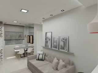 Projeto de Interiores Salas de estar modernas por Aline Bassani Arquitetura Moderno