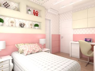 Residência Condomínio Firenze: Quarto infantil  por Giovana Lumertz Design de Interiores,Moderno
