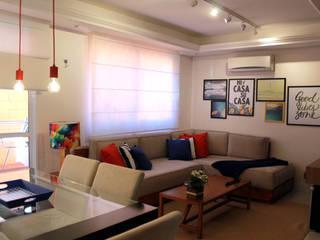 Projeto Bem Bolado 现代客厅設計點子、靈感 & 圖片