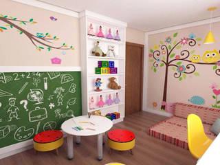 Ambientes Infantis: Quarto infantil  por Giovana Lumertz Design de Interiores,Moderno