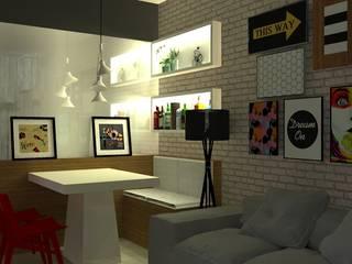 Projeto de living por Daleffe e Marques Arquitetura Moderno