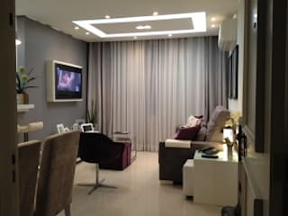 Reforma e ambientação residencial: Salas de estar  por DE LA ROCHA ARQUITETURA,Moderno