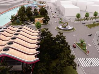 ROAS ARCHITECTURE 3D DESIGN AGENCY Jardines de estilo moderno