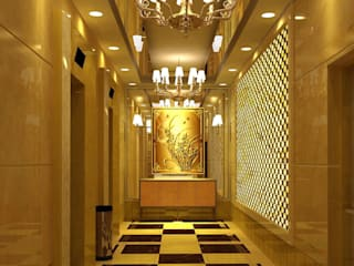 CNC Carving Faux Alabaster in China Asian style corridor, hallway & stairs by ShellShock Designs Asian
