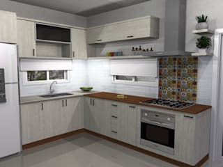 Muebles del angel Modern style kitchen