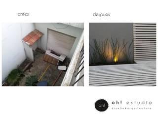 proyecto OFICINAS ESTUDIO Y CONSTRUCTORA : Jardines de invierno de estilo moderno por OH! estudio diseño & arquitectura