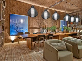 Casa de Fim de Semana Salas de jantar rústicas por Luciana Savassi Guimarães arquitetura&interiores Rústico