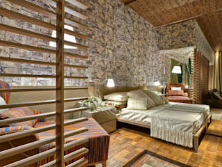 Casa de Fim de Semana Quartos rústicos por Luciana Savassi Guimarães arquitetura&interiores Rústico