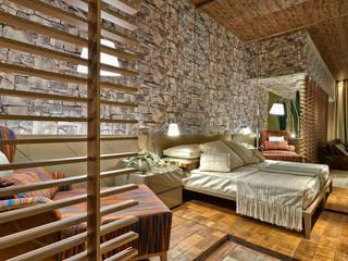 Rustik Yatak Odası Luciana Savassi Guimarães arquitetura&interiores Rustik