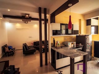 CHANDRA SHEKAR'S INTERIOR IN WHITEFIELD: rustic  by Asense,Rustic