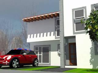 Casa EDOMEX: Casas de estilo moderno por REA + m3 Taller de Arquitectura