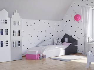 Pokój dla dziewczynki: styl , w kategorii Pokój dziecięcy zaprojektowany przez Lemonkid