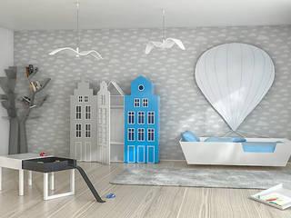 Pokój dla chłopca lub dziewczynki: styl , w kategorii Pokój dziecięcy zaprojektowany przez Lemonkid